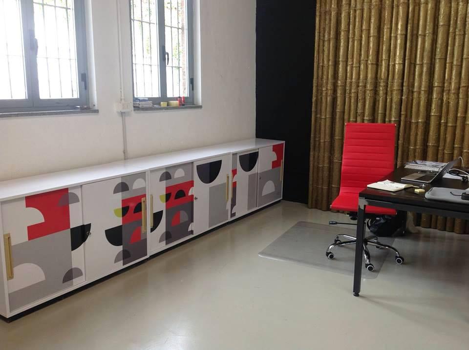 Angela Capacchione Design Grafiche armadietti Decor Lab Milano